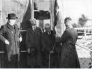 Provost J Dick and James Ketchen raise the flag at the opening of Eastfield Park Sept 1979
