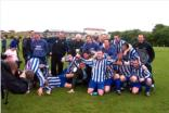The team celebrate winning the Supplementary Cup after beating Whitburn Juniors Season 2003-2004