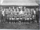 Penicuik Athletic 1910-1911. Back row: Shaw, Minnielaws, Cornwall, Ketchen, Law, Aichieson, Blaikie, Watson: Middle: Wood, Rhind, Hughes, Graham, Whitson, Phillips, Yorston, Dunlop, Foster,Millar: Front: Milne, Grieg, Roy, McLaughlan, Brown, McGinty